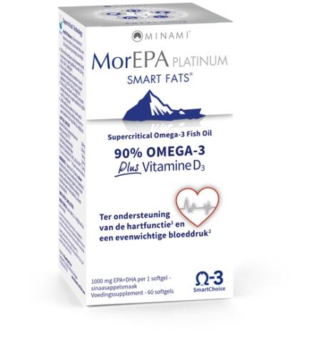 MorEpa Platinum - Hoogste dosering EPA en DHA en Vitamine D3