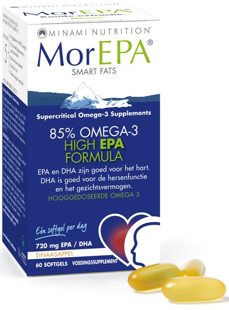 MorEpa Smart Fats - Zuivere Visolie - 60 softgels van Minami Nutrition