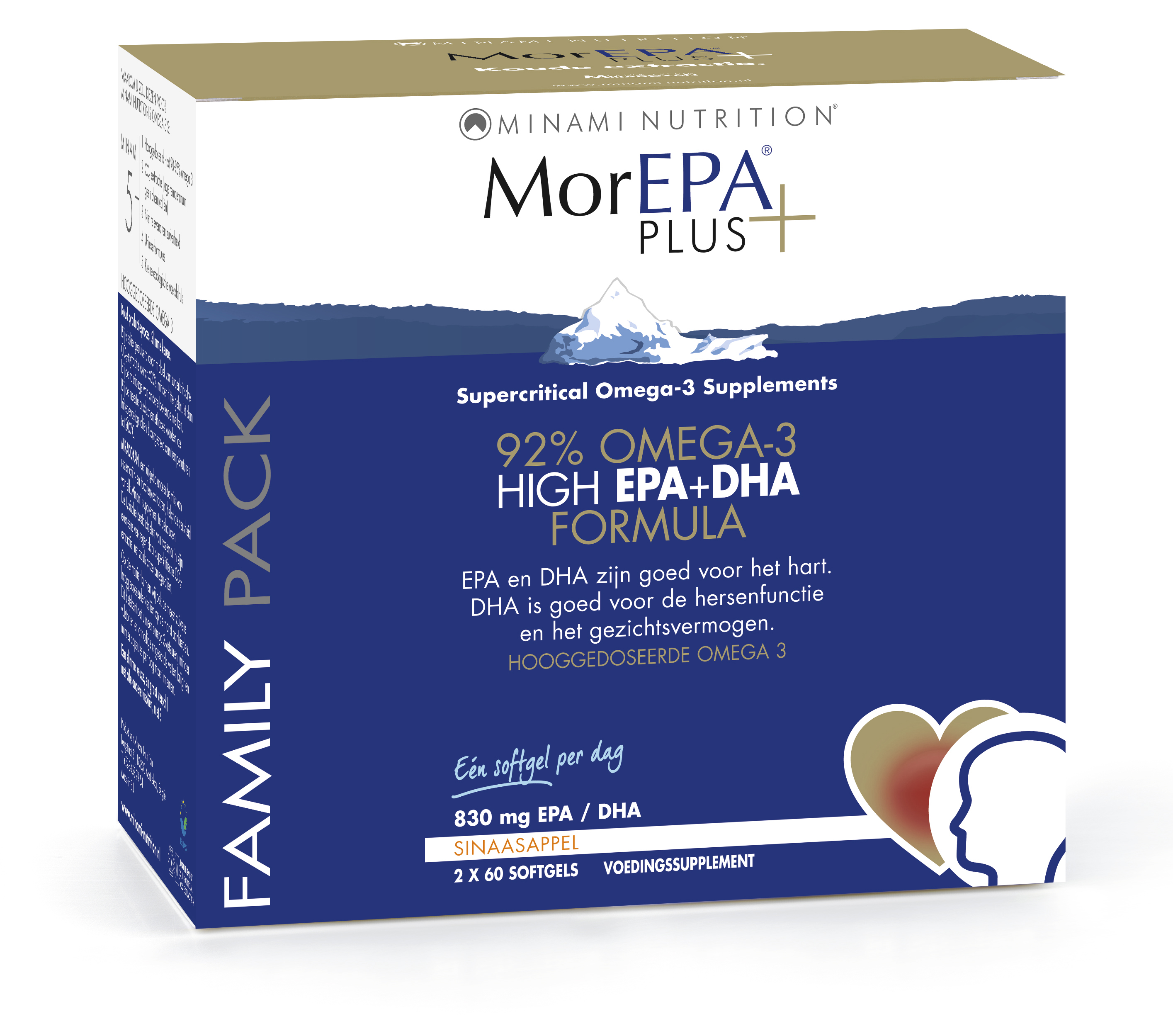 MorEpa Plus Family Pack - 120 softgels