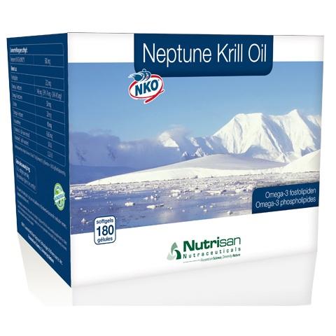 Neptune Krill Oil - Omega 3 vetzuur (180 softgels) van Nutrisan