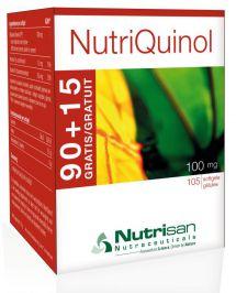 NutriQuinol 100 mg (90+ 15 softgels gratis!) van Nutrisan